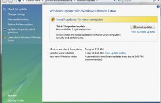 Windows Update window