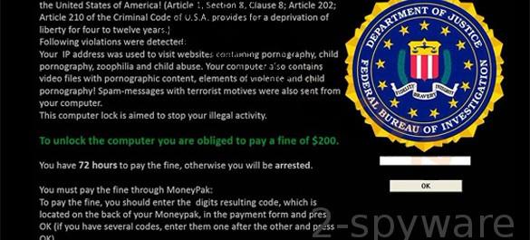 How to remove the FBI virus